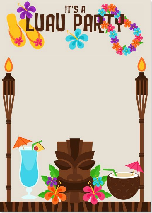 Blank Luau Invitation Borders Best Of Image Result for Luau Invitations Templates Free