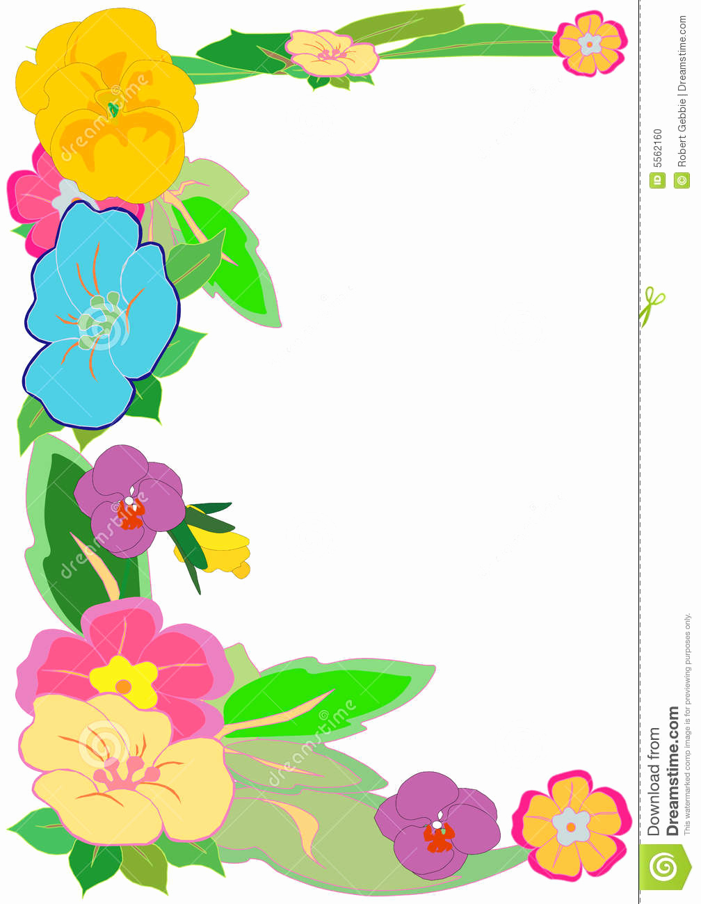 Blank Luau Invitation Borders Best Of Tropical Floral Border Stock Vector Illustration Of