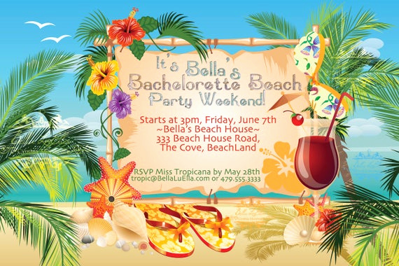 Blank Luau Invitation Borders Inspirational Beach Party Invitation Luau Party Summer Weekend