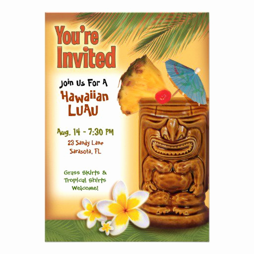 Blank Luau Invitation Borders Inspirational Luau Party Invitation Templates Free