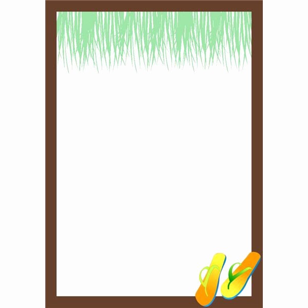 Blank Luau Invitation Borders Luxury where to Find Hawaiian Borders