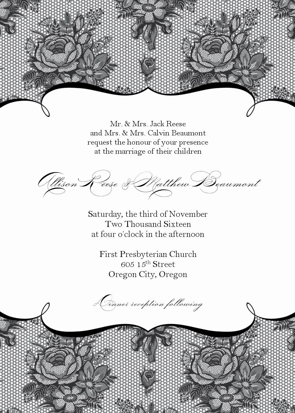 Blank Wedding Invitation Templates Fresh Blank Wedding Invitations Templates