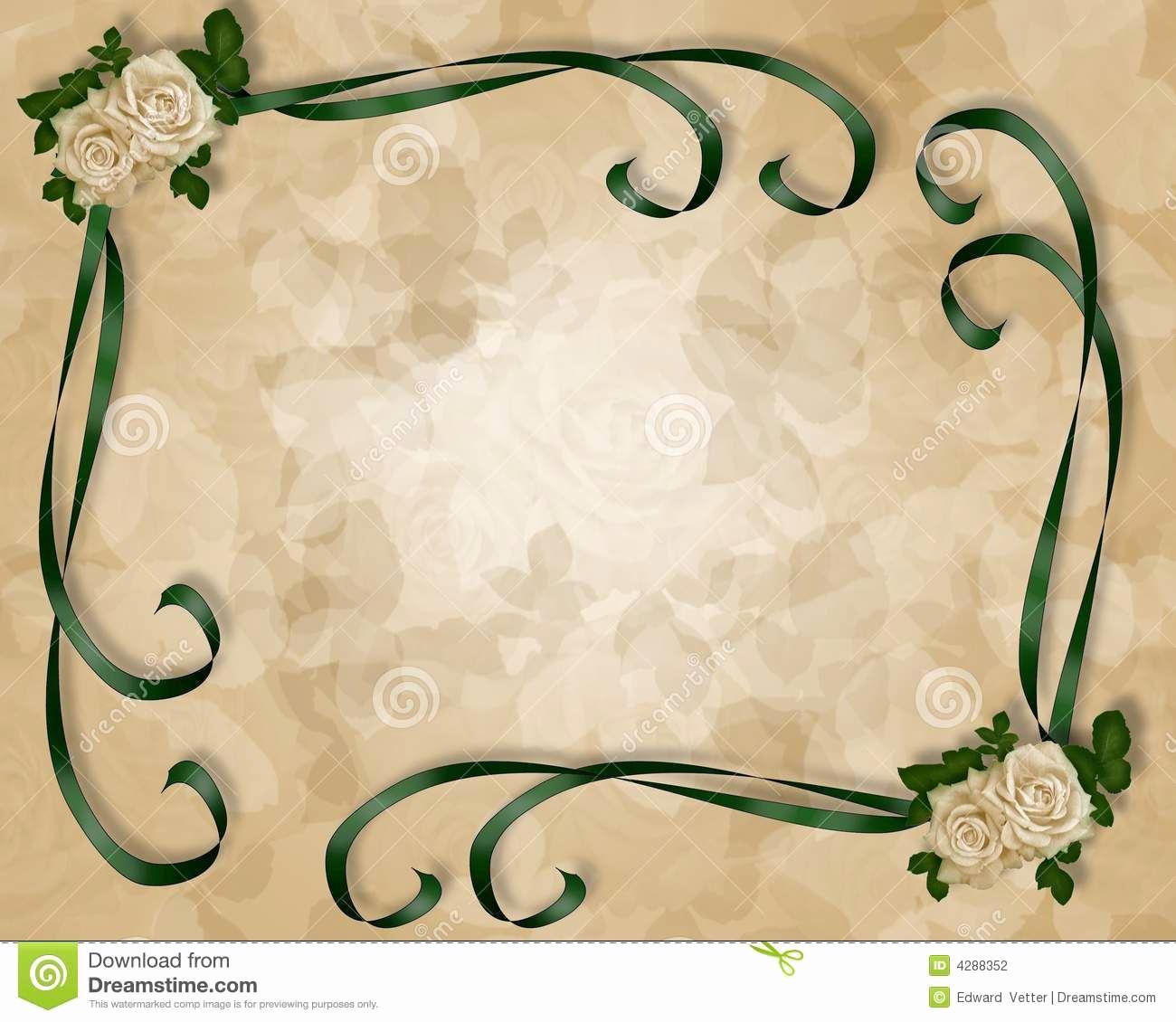 Blank Wedding Invitation Templates Fresh Wedding Invitation Template Stock Graphy Image