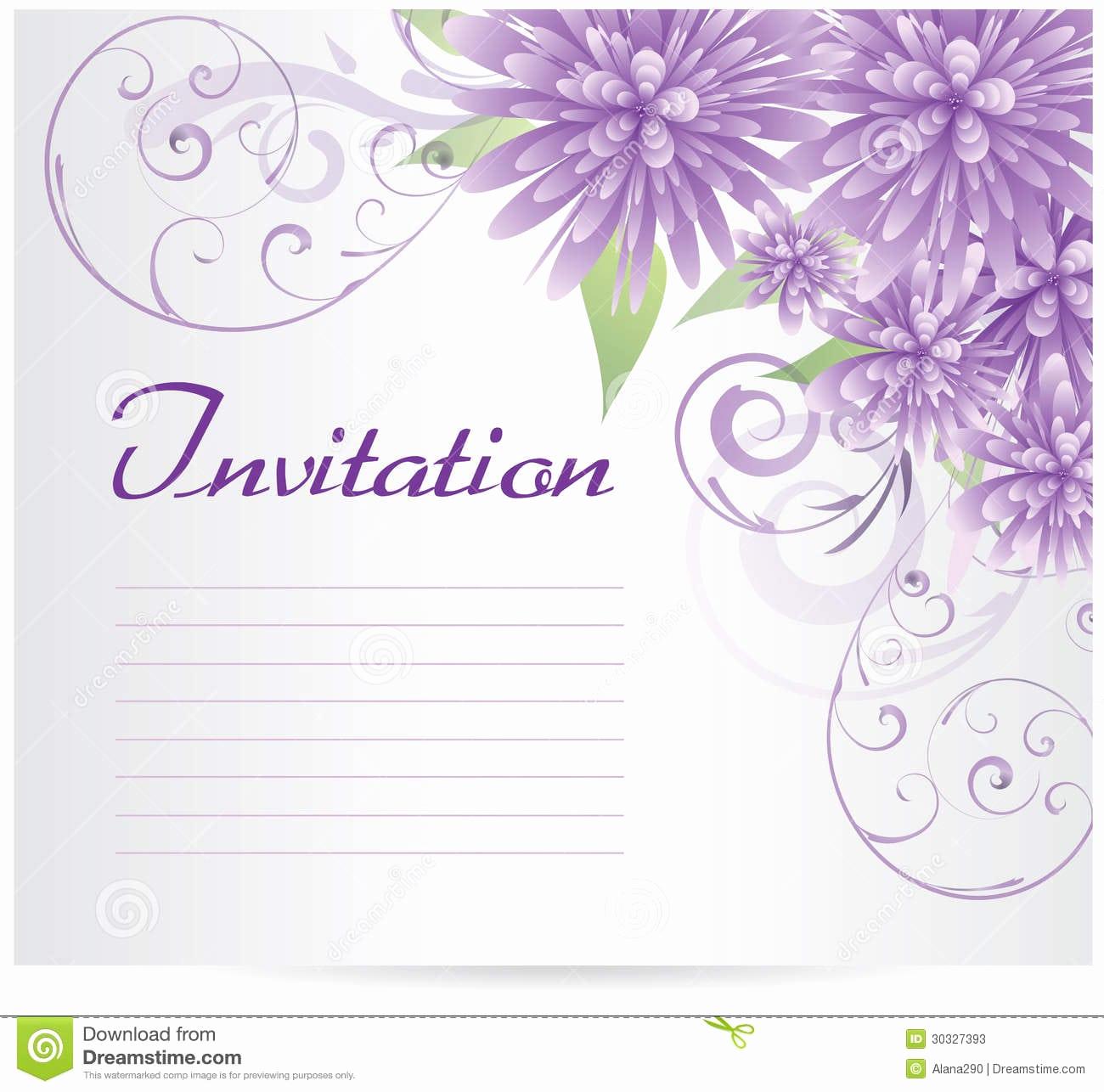 Blank Wedding Invitation Templates Unique Invitation Blank Template