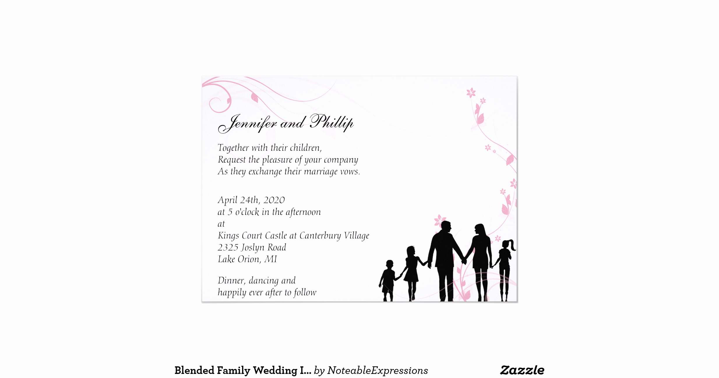 Blended Family Wedding Invitation Wording Awesome Blended Family Wedding Invitation