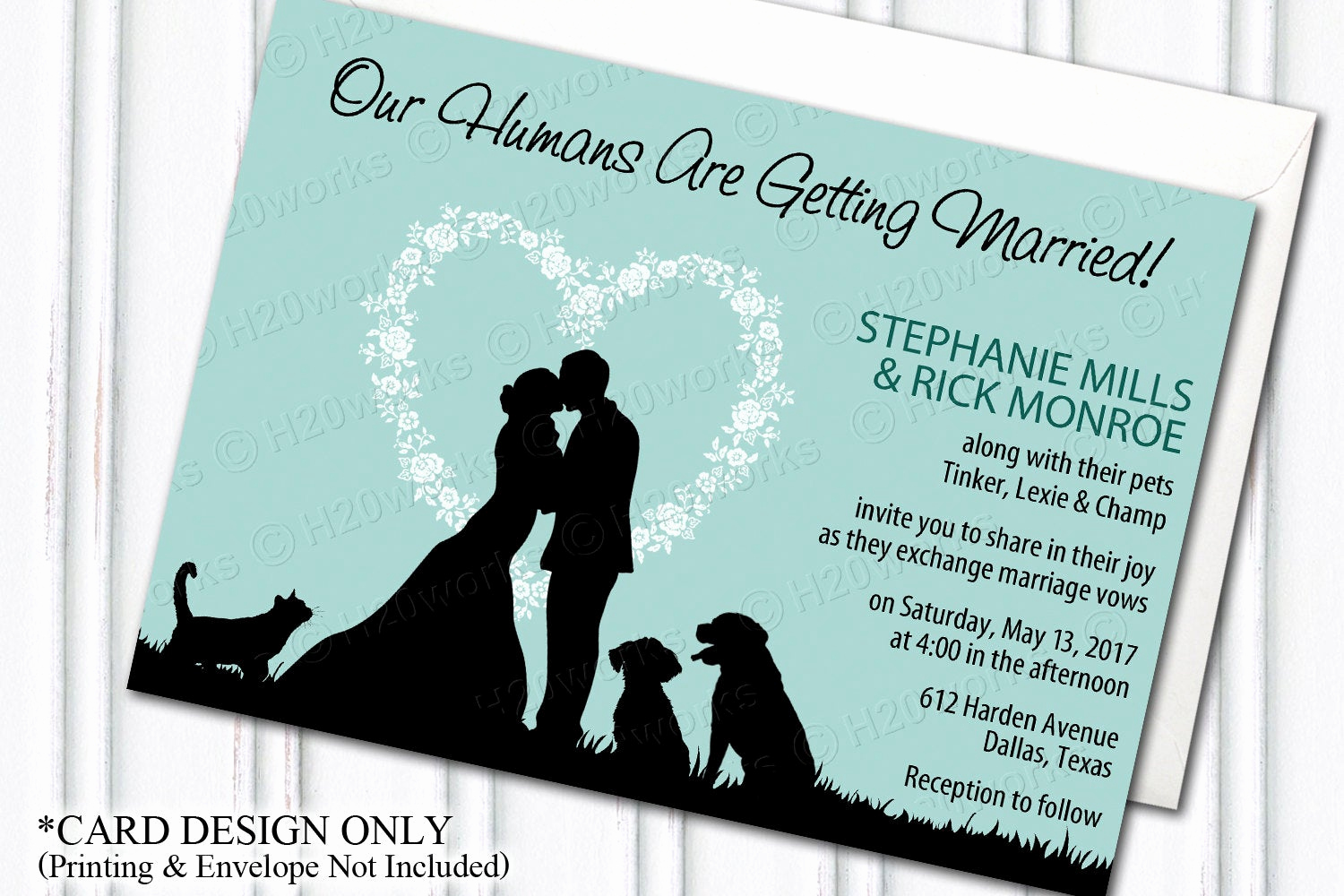 Blended Family Wedding Invitation Wording Awesome Pets Wedding Invitation Blended Family Dog Wedding