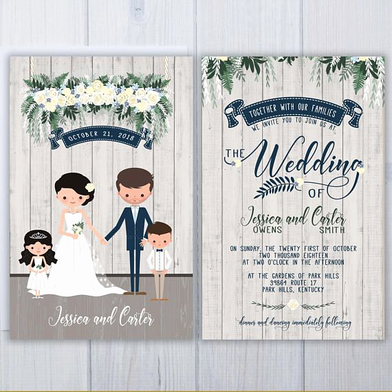 Blended Family Wedding Invitation Wording Beautiful Blended Family Wedding Invitations Illustrated Wedding