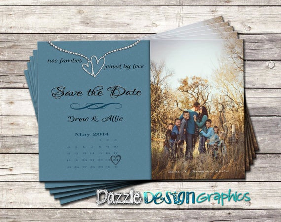Blended Family Wedding Invitation Wording Beautiful Items Similar to Blended Family Save the Date