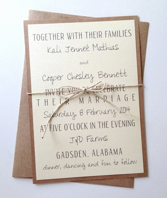 Blended Family Wedding Invitation Wording Luxury Rustic Modern Wedding Invitations by Lemoninvitations On