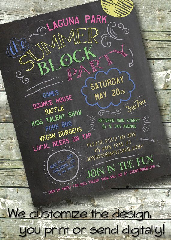 Block Party Invitation Ideas Beautiful Best 25 Block Party Invites Ideas On Pinterest