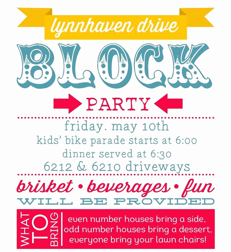 Block Party Invitation Ideas New Best 25 Block Party Invites Ideas On Pinterest
