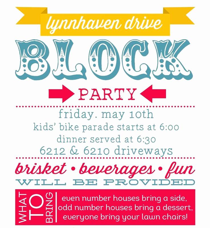 Block Party Invitation Ideas New Best 25 Block Party Invites Ideas On Pinterest