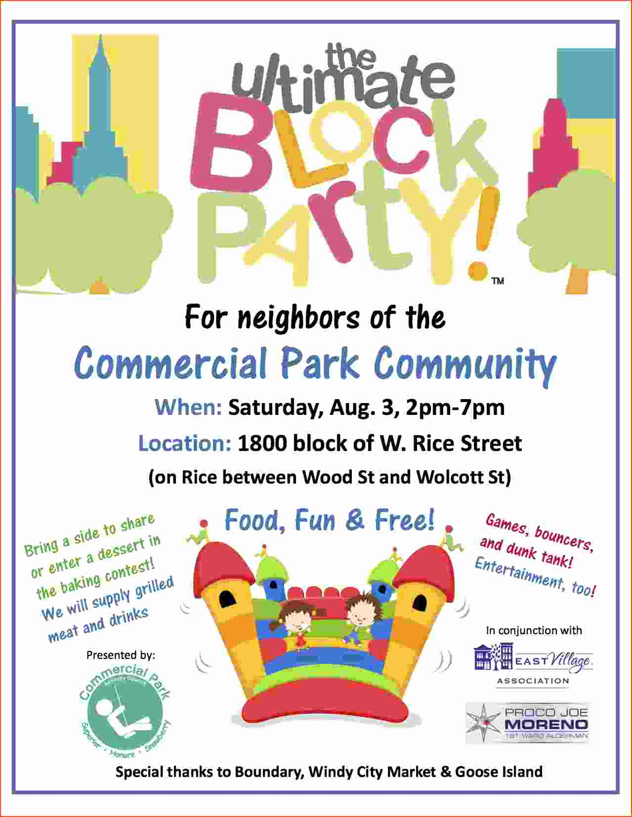 Block Party Invitation Template Best Of 4 Block Party Flyer Template Bookletemplate