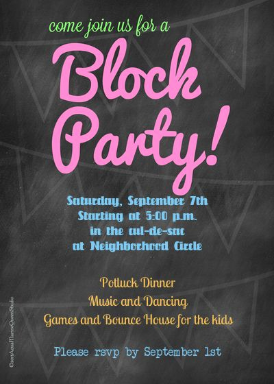 Block Party Invitation Template Elegant 28 Best Images About Spring Fling On Pinterest