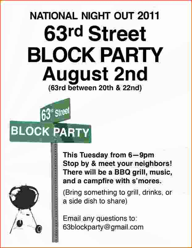 Block Party Invitation Template Free Awesome 4 Block Party Flyer Template Bookletemplate