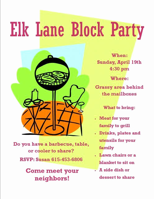 Block Party Invitation Template Free Beautiful How to organize A Neighborhood Block Party