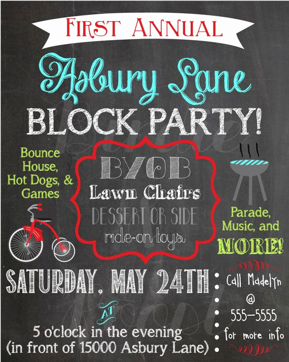 Block Party Invitation Template Free Best Of Best 25 Block Party Invites Ideas On Pinterest