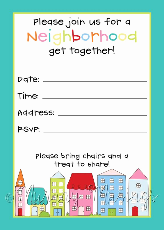Block Party Invitation Template Free Elegant Block Party Party Invitations and Invitations On Pinterest