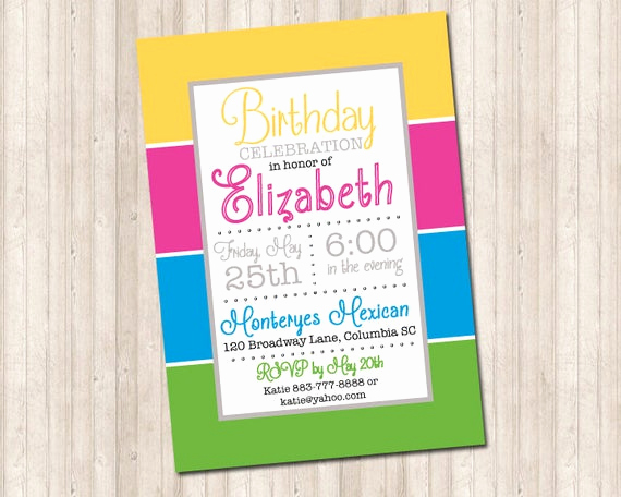 Block Party Invitation Template Free Inspirational Color Block Party Invitation
