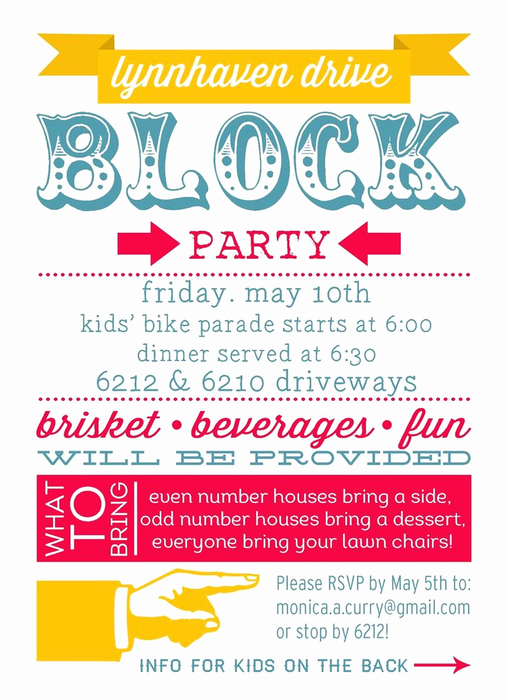 Block Party Invitation Template Free Lovely 25 Best Ideas About Block Party Invites On Pinterest