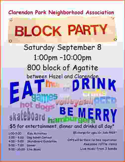 Block Party Invitation Template Free Lovely 4 Block Party Flyer Template Bookletemplate