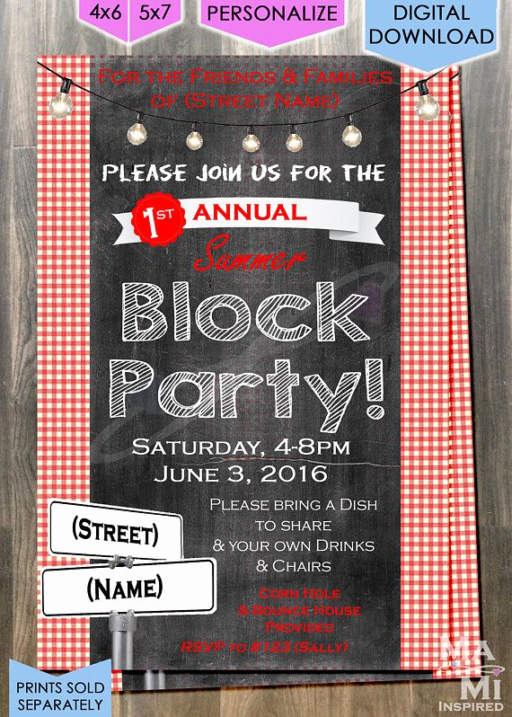 Block Party Invitation Template Free Lovely Best 25 Block Party Invites Ideas On Pinterest