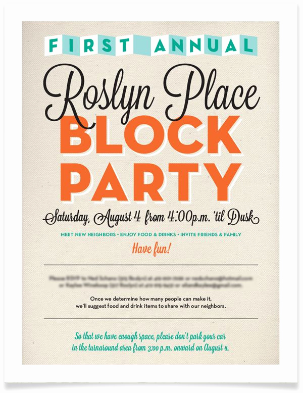 Block Party Invitation Template Fresh 17 Best Images About Invitations On Pinterest