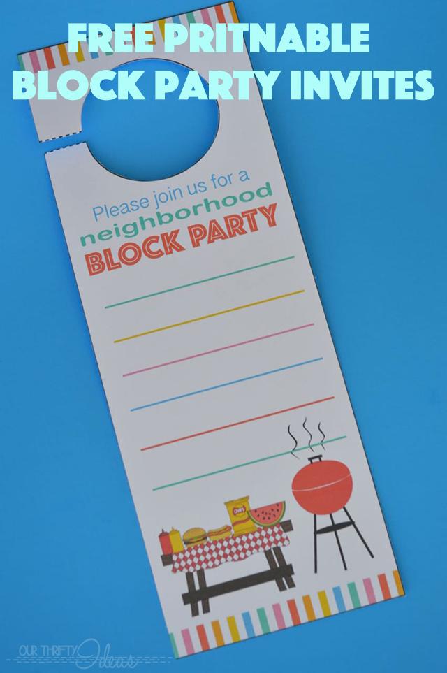 Block Party Invitation Template Fresh Neighborhood Block Party Invitation Free Printable Our
