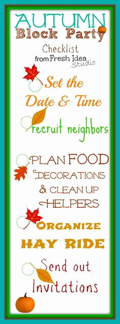 Block Party Invitation Template Inspirational 1000 Images About Neighborhood Fall Festival On Pinterest