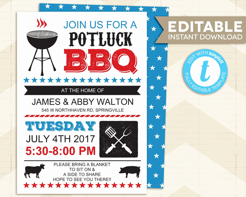 Block Party Invitation Template Inspirational Bbq Invitation Neighborhood Block Party Invitation Potluck