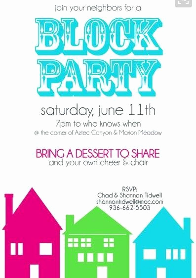 Block Party Invitation Template Inspirational Pin by Nicole Sweeney Albright On Block Party