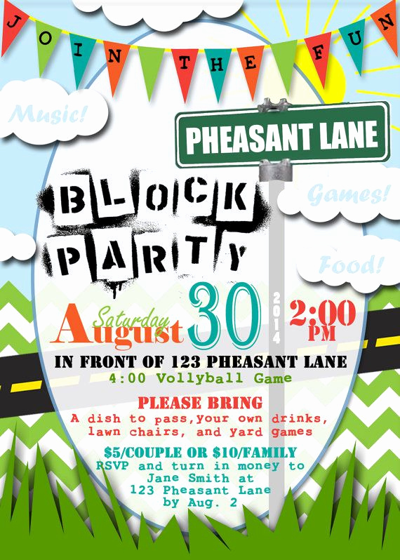 Block Party Invitation Template Luxury 25 Best Ideas About Block Party Invites On Pinterest