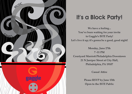 Block Party Invitation Template Luxury Gaggle S iste Party 2011 Line Invitations & Cards by