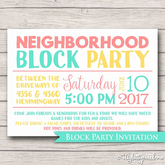block party invites