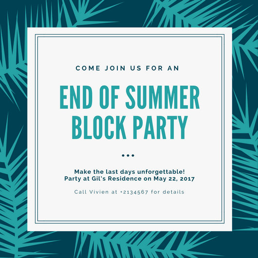 Block Party Invitation Templates Fresh Neon Summer Party Invitation Templates by Canva