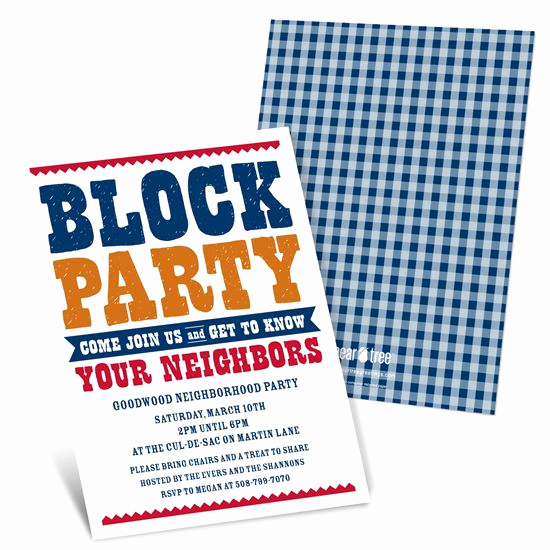 Block Party Invitation Templates Inspirational Party Invitations Custom Designs From Pear Tree
