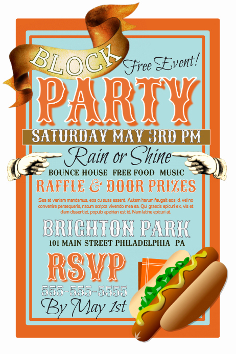 Block Party Invitation Templates Luxury Block Party Template