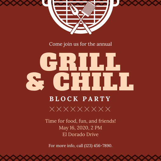 Block Party Invitation Templates New Customize 107 Bbq Invitation Templates Online Canva