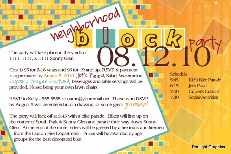 Block Party Invitation Templates Unique Invite124