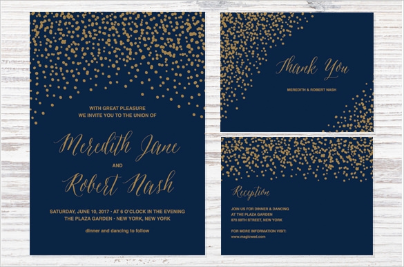 Blue and Gold Invitation Template Beautiful 49 Wedding Backgrounds Psd Vector Eps Ai