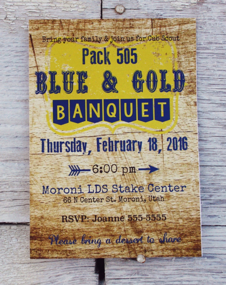 Blue and Gold Invitation Template Elegant Cool Blue and Gold Banquet Invitation Templates Picture
