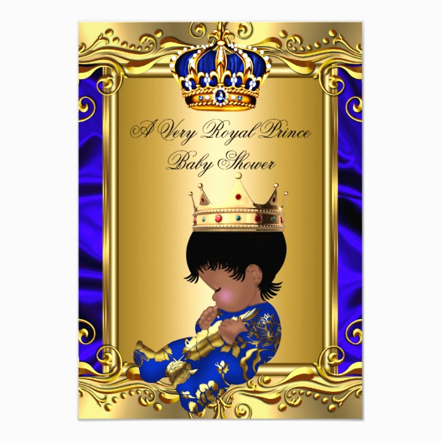 Blue and Gold Invitation Template Fresh Custom Royal Baby Shower Invites Templates