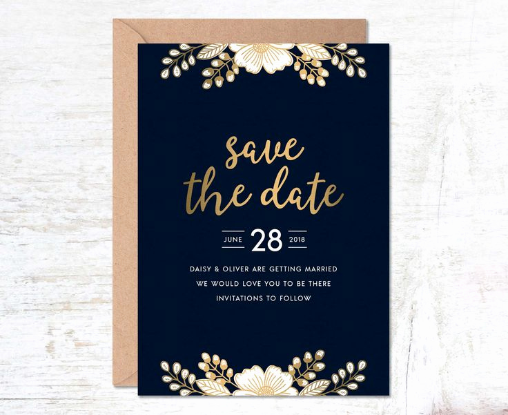 Blue and Gold Invitation Template Inspirational Best 25 Gold Save the Dates Ideas On Pinterest