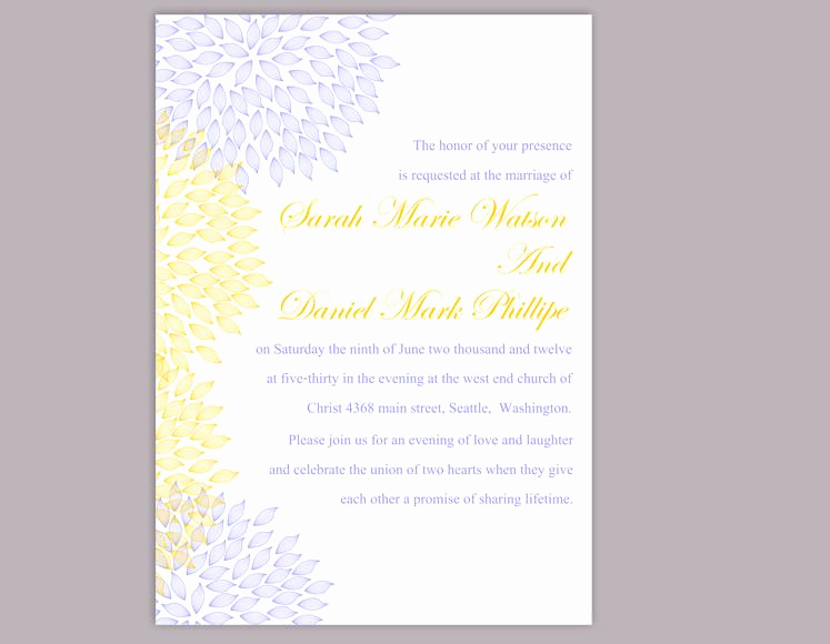 Blue and Gold Invitation Template Inspirational Diy Wedding Invitation Template Editable Word File Instant