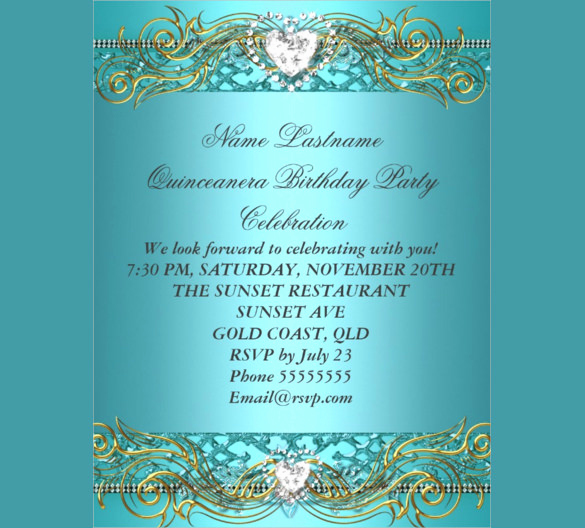 Blue and Gold Invitation Template Lovely 34 Birthday Flyer Templates Word Psd Ai Indesign