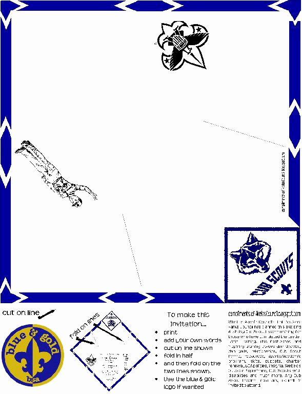 Blue and Gold Invitation Template Unique 1000 Images About Scouts Blue & Gold On Pinterest