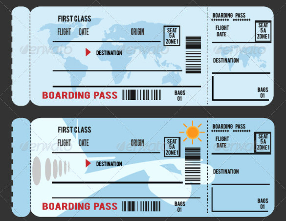 Boarding Pass Invitation Template Best Of 34 Examples Of Boarding Pass Design & Templates Psd Ai