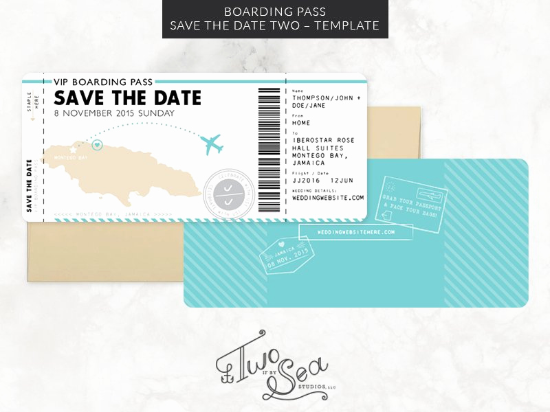 Boarding Pass Invitation Template Best Of Boarding Pass Save the Date Template Invitation