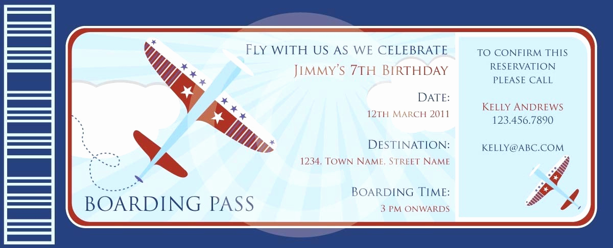 Boarding Pass Invitation Template Free Fresh Boarding Pass Airplanes Invitation Diy Printable Party