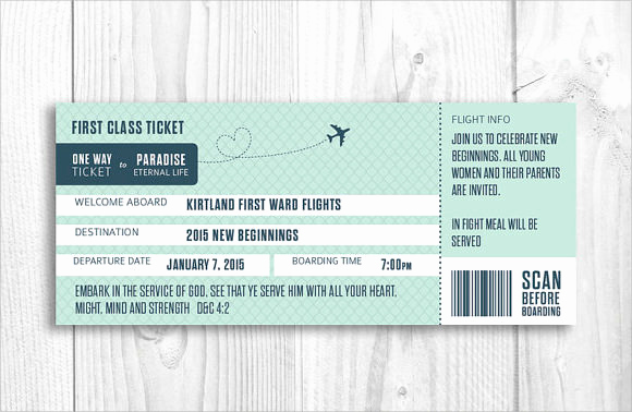 Boarding Pass Invitation Template Free Inspirational Free 15 Boarding Pass Samples In Pdf Psd Vector